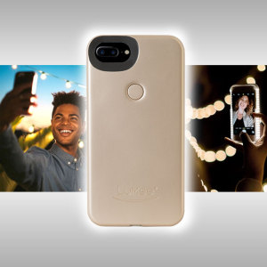 Introducing the newly designed Lumee Two case in gold for iPhone 7 Plus / 6S Plus / 6 Plus. Moving on from the original, this new design is brighter and slimmer, meaning you can take even better selfies.