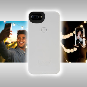 Introducing the newly designed Lumee Two case in white for iPhone 7 Plus / 6S Plus / 6 Plus. Moving on from the original, this new design is brighter and slimmer, meaning you can take even better selfies.