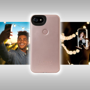 Introducing the newly designed Lumee Two case in rose gold for iPhone 7 / 6S / 6. Moving on from the original, this new design is brighter and slimmer, meaning you can take even better selfies.