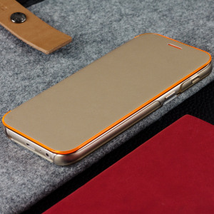 Protect your Samsung Galaxy A3 2017's back, sides and screen from harm with the official gold neon flip wallet cover from Samsung. Featuring neon edge lighting to keep you informed of notifications, incoming calls and more.