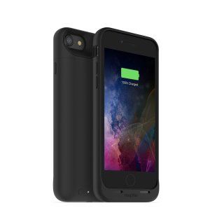 The Mophie Juice Pack in black is a 2525mAh 'Made for iPhone' battery case with added power and protection made for the Apple iPhone 7. Equipped with enough juice to give your iPhone 7 a total of 27 hours' battery life.