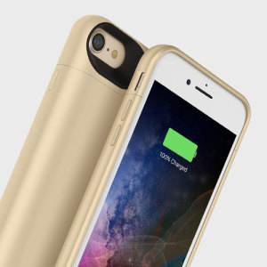 The Mophie Juice Pack in gold is a 2525mAh 'Made for iPhone' battery case with added power and protection made for the Apple iPhone 7. Equipped with enough juice to give your iPhone 7 a total of 27 hours' battery life.