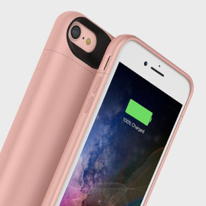 The Mophie Juice Pack in rose gold is a 2525mAh 'Made for iPhone' battery case with added power and protection made for the Apple iPhone 7. Equipped with enough juice to give your iPhone 7 a total of 27 hours' battery life.