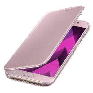 Cette superbe Clear View Cover Offcielle Samsung Galaxy A5 2017 en coloris rose est le moyen idéal de protéger avec un maximum d'élégance votre smartphone tout en pouvant consulter à tout moment les notifications entrantes grâce un rabat Clear View à la fois sophistiqué et épuré.