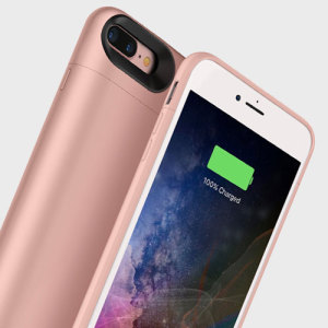The Mophie Juice Pack in rose gold is a 2420mAh 'Made for iPhone' battery case with added power and protection made for the Apple iPhone 7 Plus. Equipped with enough juice to give your iPhone 7 Plus a total of 33 hours' battery life.