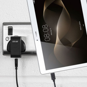 Charge your Huawei MediaPad M2 10.0 quickly and conveniently with this compatible 2.5A high power charging kit. Featuring mains adapter and USB cable.