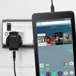 Charge your Nook 7 tablet quickly and conveniently with this compatible 2.5A high power charging kit. Featuring mains adapter and USB cable.