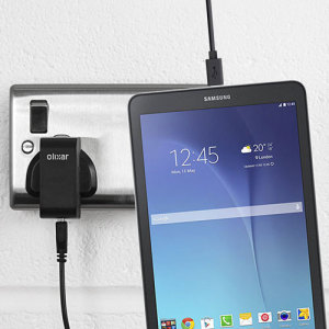 Charge your Samsung Galaxy Tab E 9.6 quickly and conveniently with this compatible 2.5A high power charging kit. Featuring mains adapter and USB cable.