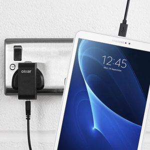 Charge your Samsung Galaxy Tab A 10.1 / 9.7 / 8 / 7 quickly and conveniently with this compatible 2.1A high power charging kit. Featuring mains adapter and USB cable.