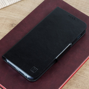 The Olixar leather-style Samsung Galaxy A5 2017 Wallet Case in black provides enclosed protection and can also be used to hold your credit cards. The case also transforms into a viewing stand for added convenience.