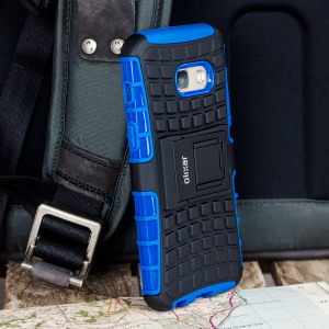 Protect your Samsung Galaxy A3 2017 from bumps and scrapes with this blue ArmourDillo case. Comprised of an inner TPU case and an outer impact-resistant exoskeleton, offering sturdy and robust protection, but also a sleek modern styling.