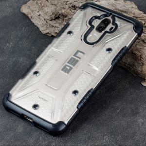 Urban Armour Gear till Huawei Mate 9 har ett skyddande TPU-skal med en borstad UAG-logotyp i metall för en fantastisk design.