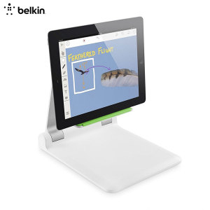 The Tablet Stage from Belkin is a compact, lightweight and sturdy universal stand for your tablet. Nail every presentation in podium mode or use your tablet as a de facto scanner in document camera mode. Also great for media viewing and video calls!