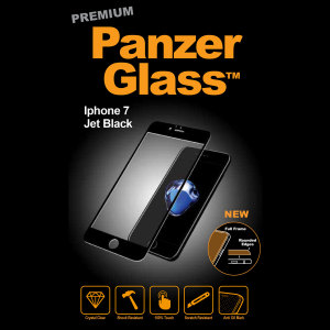 Introducing the premium range PanzerGlass glass screen protector in jet black. Designed to be shock and scratch resistant, PanzerGlass offers the ultimate protection, while also matching the colour of your stunning iPhone 7.