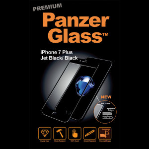 Introducing the premium range PanzerGlass glass screen protector in jet black. Designed to be shock and scratch resistant, PanzerGlass offers the ultimate protection, while also matching the colour of your stunning iPhone 7 Plus.