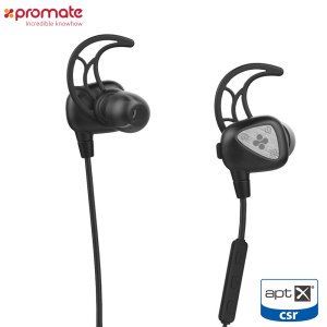 With a sweatproof design, the Promate Wireless earphones are perfect for use during your daily work out or when you're out and about. Featuring the AptX codec, you'll be able to listen to your music and take calls and stunningly high quality.