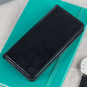 A premium slimline black genuine leather case. The Olixar genuine leather executive wallet case offers perfect protection for your Samsung Galaxy A5 2017, as well as featuring a smart magnetic media stand slots for your cards, cash and documents.
