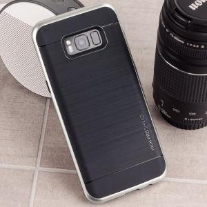 Bescherm uw Samsung Galaxy S8 met deze nauwkeurig ontworpen hoes uit de High Pro Shield-serie van VRS Design. Gemaakt van stevig dubbelgelaagd maar toch dun materiaal, deze hardshell body met een slanke bumper heeft een aantrekkelijke tweekleurige afwerking.
