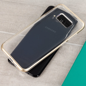 Protect your Samsung Galaxy S8 with this precisely designed crystal / Shine Gold case from VRS Design. Made with a sturdy yet minimalist design, this see-through case offers protection for your phone while still revealing the beauty within.