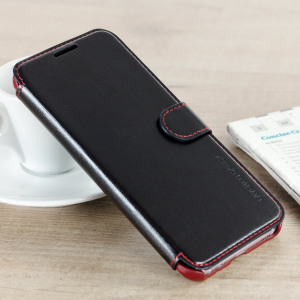 The VRS Design Dandy Wallet Case in black for the Samsung Galaxy S8 comes complete with card slots, a large document pocket and is made with a luxurious leather-style material for a classic, prestige and professional look.