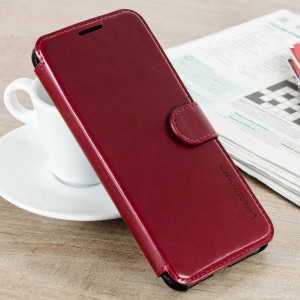 The VRS Design Dandy Wallet Case in red for the Samsung Galaxy S8 comes complete with card slots, a large document pocket and is made with a luxurious leather-style material for a classic, prestige and professional look.