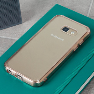 Protect the back and sides of your Samsung Galaxy A3 2017 with this incredibly durable, rose gold and crystal clear backed Fusion Case by Ringke. The clear design perfectly highlights the A3's stunning design whilst keeping it protected.