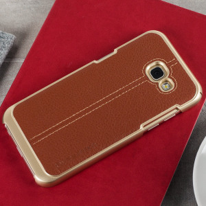 Coque Samsung Galaxy A5 2017 VRS Design Simpli Mod Simili Cuir - Marron