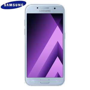 Unlocked 16GB Samsung Galaxy A3 2017 in blue. With a 4.7 inch display featuring a 720 x 1280 resolution, 13MP camera and running Android - this Samsung smartphone is ready for anything you can throw at it!