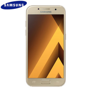Unlocked 16GB Samsung Galaxy A3 2017 in gold. With a 4.7 inch display featuring a 720 x 1280 resolution, 13MP camera and running Android - this Samsung smartphone is ready for anything you can throw at it!