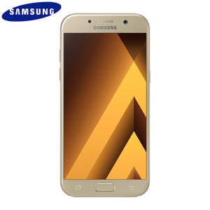 Unlocked 32GB Samsung Galaxy A5 2017 in gold. With a 5.2 inch display featuring a 1080 x 1920 resolution, 16MP camera and running Android - this Samsung smartphone is ready for anything you can throw at it!