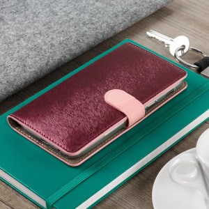 The Hansmare Calf Wallet Case in pink for the Samsung Galaxy A5 2017 provides exceptional protection in a slim and sleek package. The interior of the case features a genuine leather pocket with slots for your cards and document.