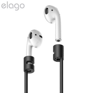 Designed exclusively to be used with iPhone 7 and 7 Plus AirPods, the Strap in black from Elago is the ideal accessory to stop you losing your precious AirPods.