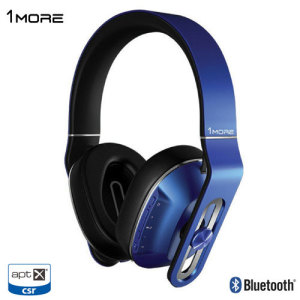 1more MK802 Premium Wireless Bluetooth aptX Headphones - Blue