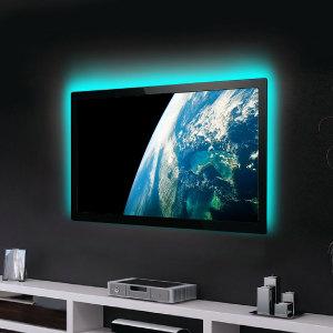 Ajoutez un ruban de lumières LED tout autour de votre TV afin d'améliorer son visionnage et de créer une ambiance unique. Vous pourrez changer de couleurs en fonction de votre humeur et soulager vos yeux.