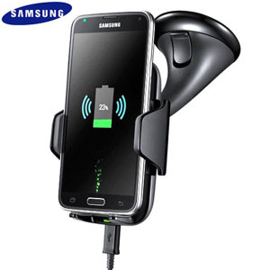 Samsung Qi Wireless Fast Charging Car Holder and Charger - Black