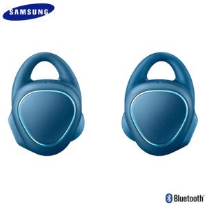 Samsung's Gear IconX wireless sport earphones in blue offer huge sound in a lightweight package. Connect the earphones wirelessly to any Bluetooth-compatible device or leave your phone at home and store up to 1000 songs on the earphones themselves.