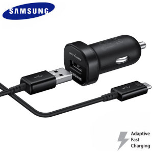 Official Samsung Micro USB Mini In-Car Adaptive Fast Charger - Black
