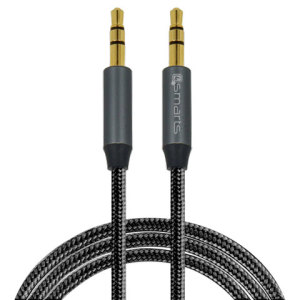 This 1 metre gold ended 3.5mm to 3.5mm Auxiliary cable from 4smarts is a sleek, sturdy solution for connecting any device with a 3.5mm connection to your mighty sound system or car stereo.