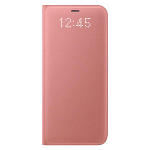 Protect your Samsung Galaxy S8's screen from harm and keep up to date with your notifications through the intuitive LED display with the official pink LED cover from Samsung.
