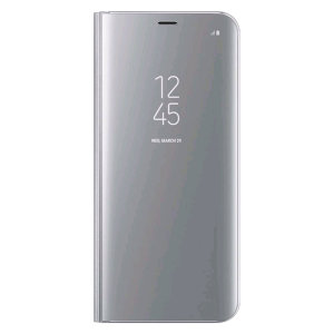 Clear View Stand Cover Officielle Samsung Galaxy S8 Plus - Argent