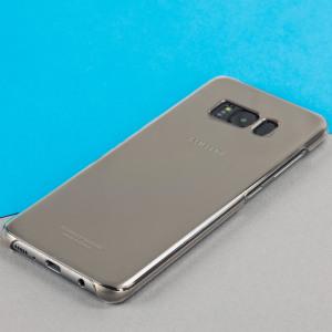 Esta funda oficial de Samsung, el modelo Clear Cover, permite ver el bonito diseño del Galaxy S8 mientras lo mantiene protegido.