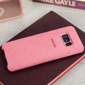 Protect your Samsung Galaxy S8 with this Official Alcantara case in pink. Stylish and protective, this case is the perfect accessory for your S8.