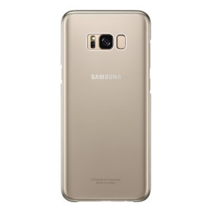 This Official Samsung Clear Cover in gold is the perfect accessory for your Galaxy S8 Plus smartphone.