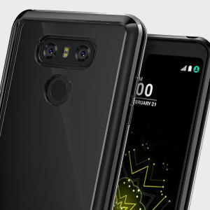 Protect the back and sides your sleek LG G6 with this incredibly durable ink black and clear backed Fusion Case by Ringke.