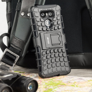 Protect your LG G6 from bumps and scrapes with this black ArmourDillo case. Comprised of an inner TPU case and an outer impact-resistant exoskeleton, the ArmourDillo not only offers sturdy and robust protection, but also a sleek modern styling.