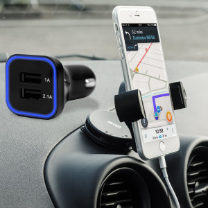 Hold your phone safely in your car with this fully adjustable DriveTime car holder for your iPhone 7 Plus.