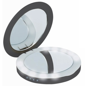 The Beeyo Compact Mirror Power Bank in black lets you charge your smartphone on the go as well as fix your make up. Perfect for all of those little emergencies, it's small and lightweight so you can keep it in your handbag for when you need it.