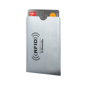 This lightweight slimline card sleeve provides RFID protection to stop wireless card fraud.