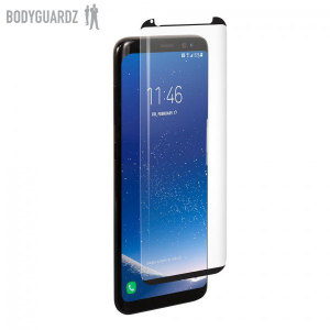 Keep your Samsung Galaxy S8 Plus safe and secure this tempered glass screen protector from BodyGuardz.