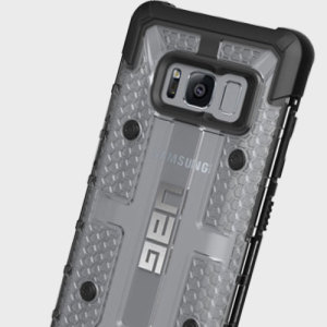 The Urban Armour Gear Plasma for the Samsung Galaxy S8 features a protective TPU case in ice with a brushed metal UAG logo insert for an amazing design.